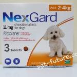 NexGard dogs 2-4 kg. ขนาด 11 mg. Exp.09/20