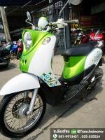 FINO ปี54 สีเขียวสดใส เครื่องดี พร้อมใช้งาน ขับขี่เยี่ยม ราคา 21,000