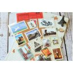 (4 แผ่น/ชุด) แสตมป์สติ๊กเกอร์ Traveler's Notebook Stamp Sticker Set #2 (ใช้ตกแต่ง ไม่สามารถใช้แทนค่าฝากส่ง)