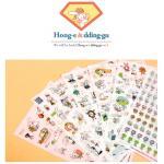 (6 แผ่น/ชุด) สติ๊กเกอร์กระต่าย Bunny Rabbit - Hong-e & dding-gu Sticker Set ver.2