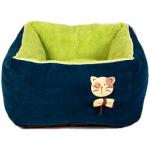 ที่นอนหนานุ่มสำหรับน้องแมว ขนาด 45x45x25 cm สีเขียว