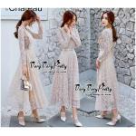 Sweetie Fashion Korea Florals Lace Dress