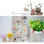 (1แผ่น/ชุด) สติ๊กเกอร์นกฮูก Latech Bubo Owl Sticker