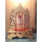 แท่นพระพม่าทรงสูง ฐานมีขอบใหญ่พิเศษ 15 นิ้ว รหัส0103