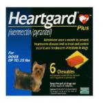 Heartgard Plus 6 เม็ด สำหรับ นน.สุนัข ไม่เกิน 11 กิโลกรัม Exp.10/19
