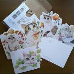 โปสการ์ดรูปทรงต่างๆ ชุด Watercolor Cats on Shaped Postcards ลดราคาเนื่องจากสินค้าอาจมีตำหนิ โปรดอ่านรายละเอียด