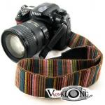 Camera Strap สายคล้องคอกล้อง Rainbow โทนสีน้ำตาล