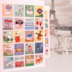 (4 แผ่น/ชุด) แสตมป์สติ๊กเกอร์ Sweet Room/ Travel / Congratulations / Love Stamp Sticker Set (ใช้ตกแต่ง ไม่สามารถใช้แทนค่าฝากส่ง)