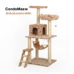 คอนโดแมว รุ่น Condo Maew 134 สีครีมส้มลายกราฟฟิก
