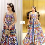 Embrodery Printed Sleeveless Dress