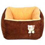 ที่นอนหนานุ่มสำหรับน้องแมว ขนาด 45x45x25 cm สีช็อคโกแลต