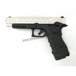 R34-J : Glock34 J Custom สไลด์เงิน - ARMY Armament