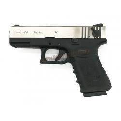 Glock23 Gen3 ทูโทน สไลด์เงิน (Full Auto) - WE