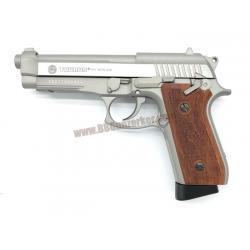 Taurus PT92 สีเงินด้าน Hairline Silver ระบบ CO2 (Full Auto) - Cybergun