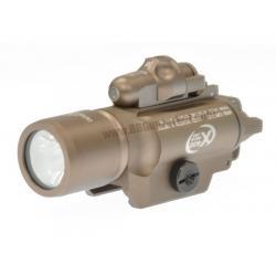 ไฟฉาย+เลเซอร์ติดปืน SUREFIRE X400 สีทราย