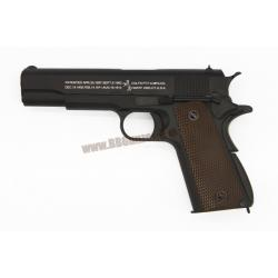 M1911A1 สีดำ กริ๊ปน้ำตาล WE