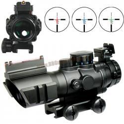 กล้อง Scope Sniper 4x32 Compact CQB มีศูนย์เรืองแสง Fiber Octic