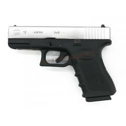 Glock19 Gen3 ทูโทน สไลด์เงิน - WE