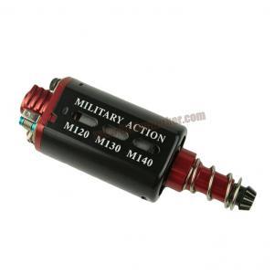 มอเตอร์ ไฮ-ทอร์ค+สปีด Militaly Action M120 M130 M140 แกนยาว ตูดแดงโลหะ