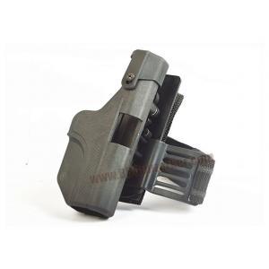 ซองพกนอกรัดขา AH-Glock 17 / 19 สีดำ (ขึ้นลำในตัว)