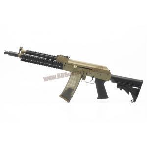 AK-105 Tactical RAS ท้าย M4 LE สีทูโทนทราย-ดำ บอดี้เหล็ก - Golden Eagle 6833C