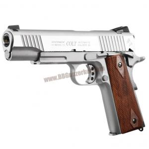 COLT 1911 Rail CO2 GBB Pistol (Stainless) - CYBERGUN