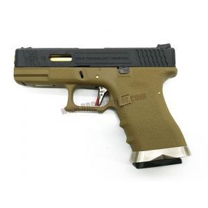 Glock19 Brand War T6 เฟรมทราย สไลด์ดำ ท่อทอง - WE