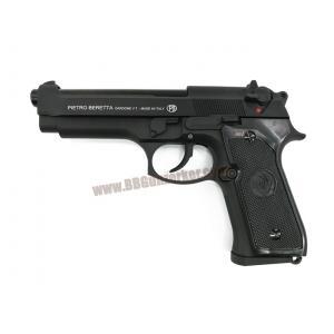 Beretta M92FS สีดำ แต่ง ยางฮอป/ท่อรีด Poseidon - B&W