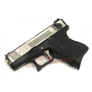 Glock26 Brand War T3 สไลด์เงิน ท่อทอง เฟรมดำ WE