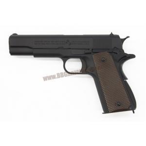 M1911A1 สีดำ กริ๊ปน้ำตาล - WE (ยิงลายร่องลึก)