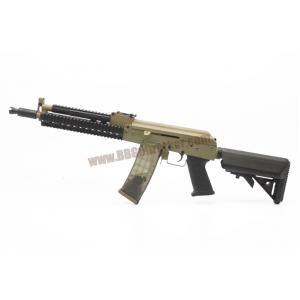 AK-105 Tactical RAS ท้าย M4 Crane สีทูโทนทราย-ดำ บอดี้เหล็ก - Golden Eagle 6831C