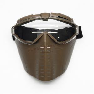 หน้ากาก มารูอิ ทรายเข้ม มีพัดลมระบายอากาศ - Battle Axe