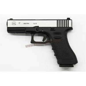 R17 : Glock17 Gen3 สไลด์ทูโทน เงิน/ดำ - ARMY Armament