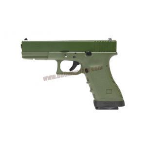 Glock17 Gen3 เฟรมเขียว สไลด์เขียว ท่อดำ - WE