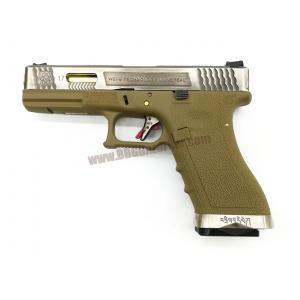 Glock17 Brand War T4 เฟรมทราย สไลด์เงิน ท่อทอง - WE