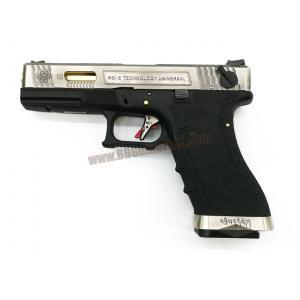 Glock18C Brand War T3 เฟรมดำ สไลด์เงิน ท่อทอง - WE