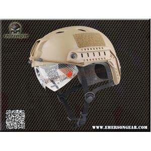 หมวก Emerson Fast Helmet BJ Type มีแว่นในตัว