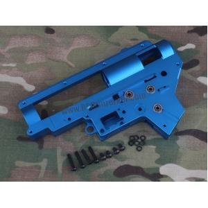 เสื้อ Gearbox 9mm V.2 อะลูมีเนียม CNC 7075 (สีน้ำเงิน) พร้อมบูชแบริ่ง
