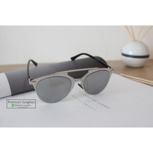 แว่นกันแดด/แวนตาแฟชั่น ทรง ฺBrowline รุ่น So Real ปรอทเงิน