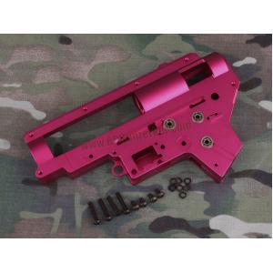 เสื้อ Gearbox 9mm V.2 อะลูมีเนียม CNC 7075 (สีแดง) พร้อมบูชแบริ่ง
