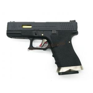 Glock19 Brand War T1 เฟรมดำ สไลด์ดำ ท่อทอง - WE