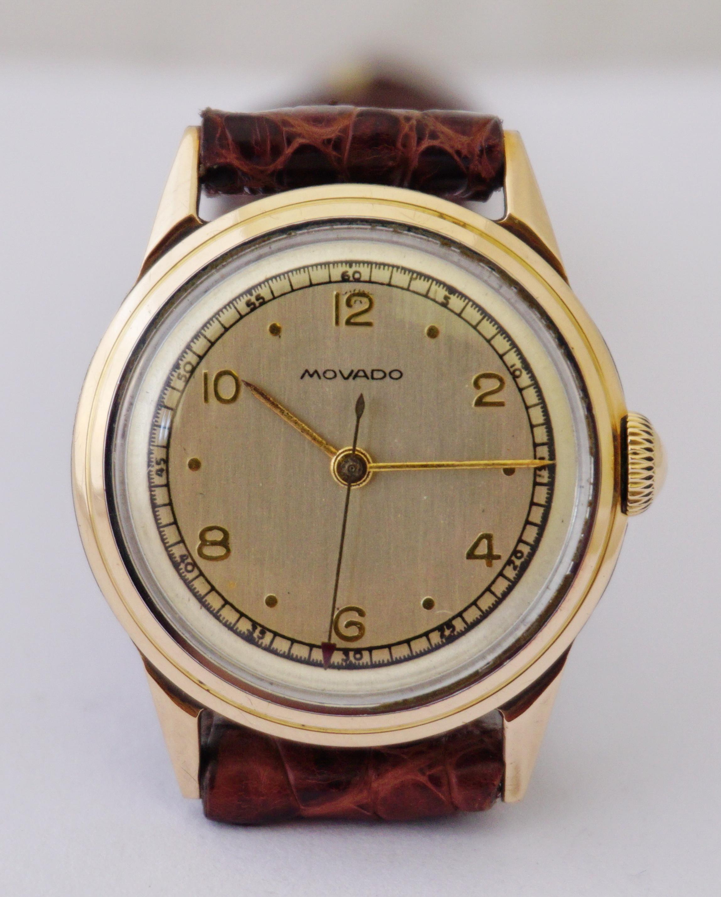 นาฬิกาเก่า MOVADO ไขลาน