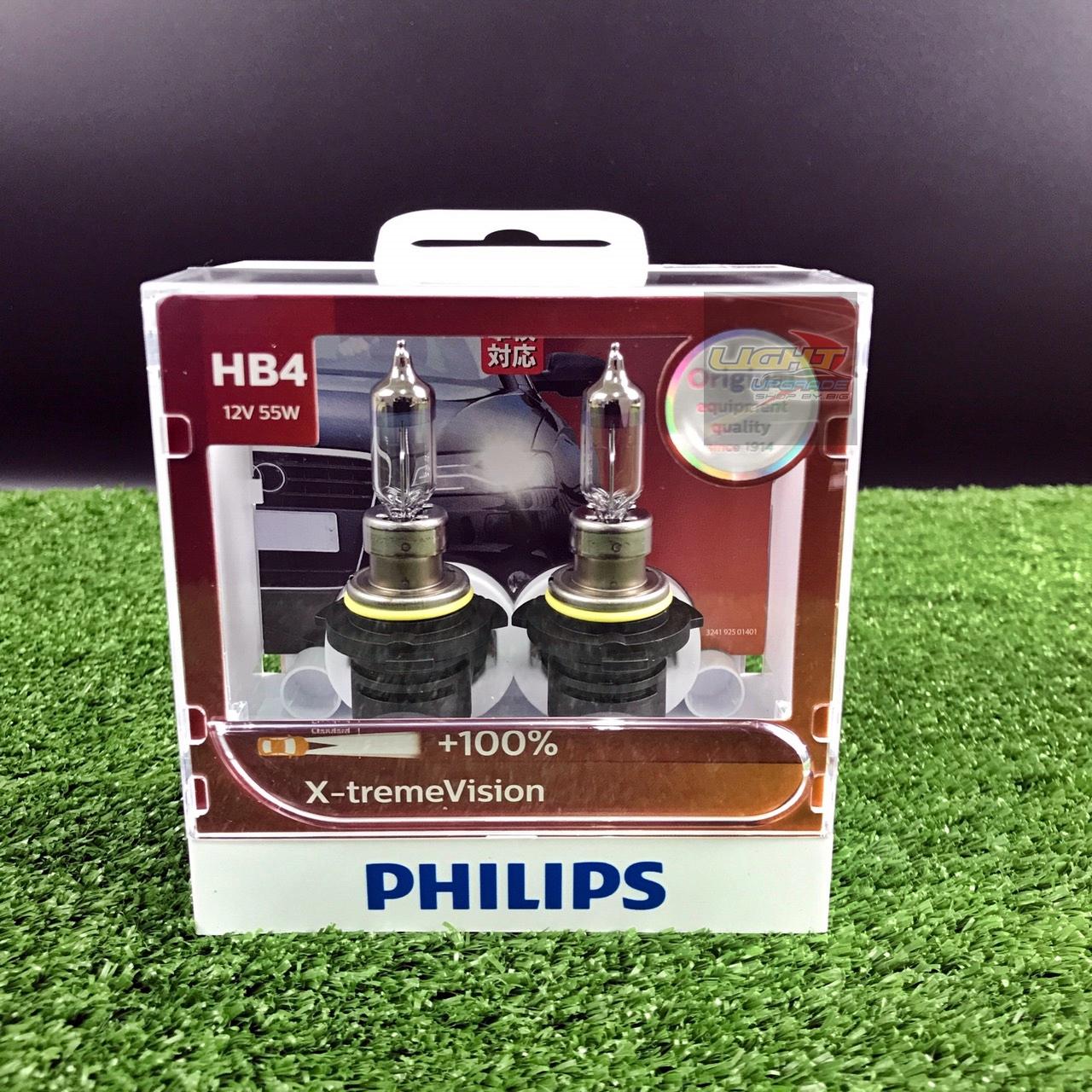 หลอดไฟอัพเกรด PHILIPS HB4 X-treme Vision +100%