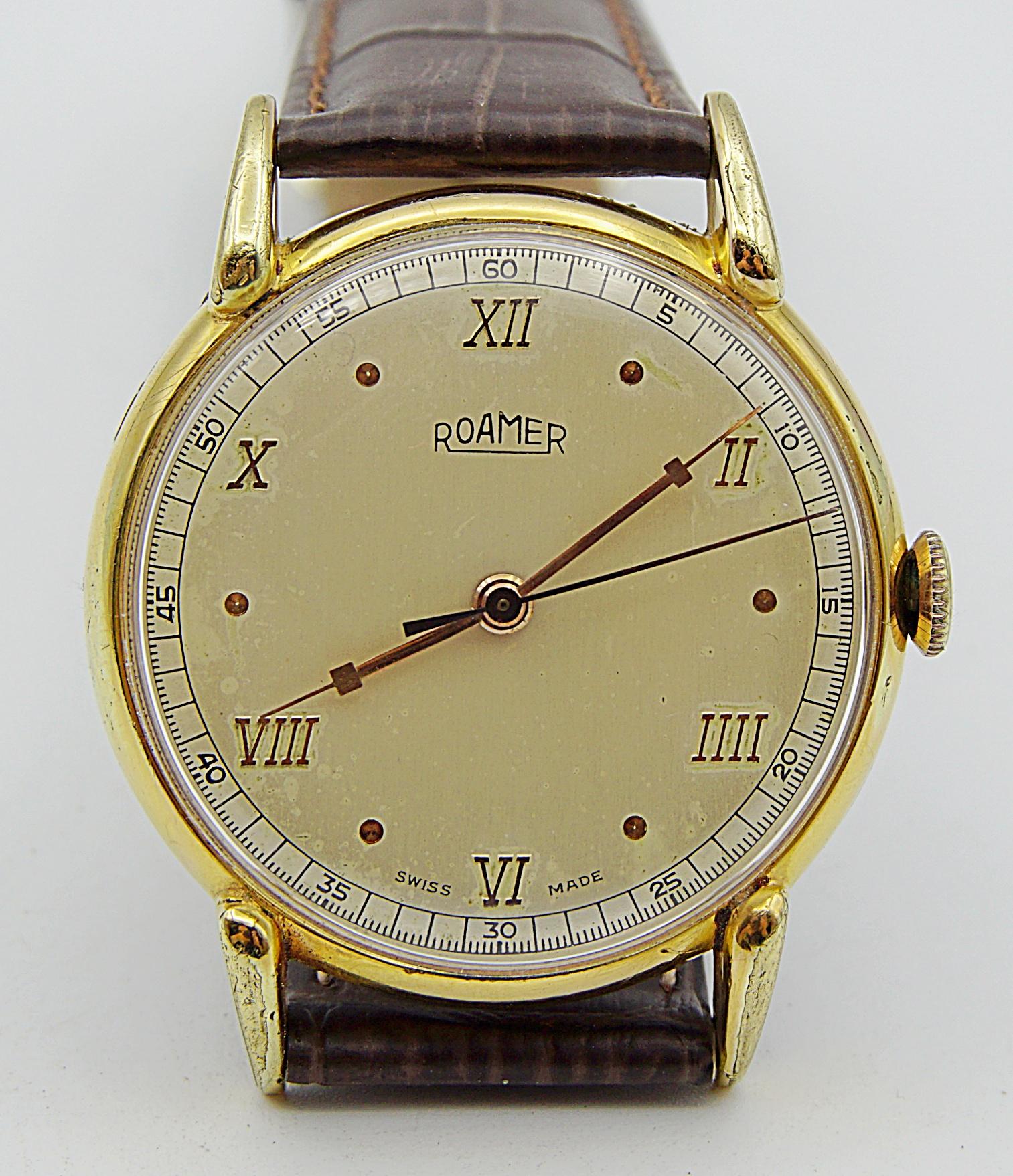 นาฬิกาเก่า ROAMER ไขลาน