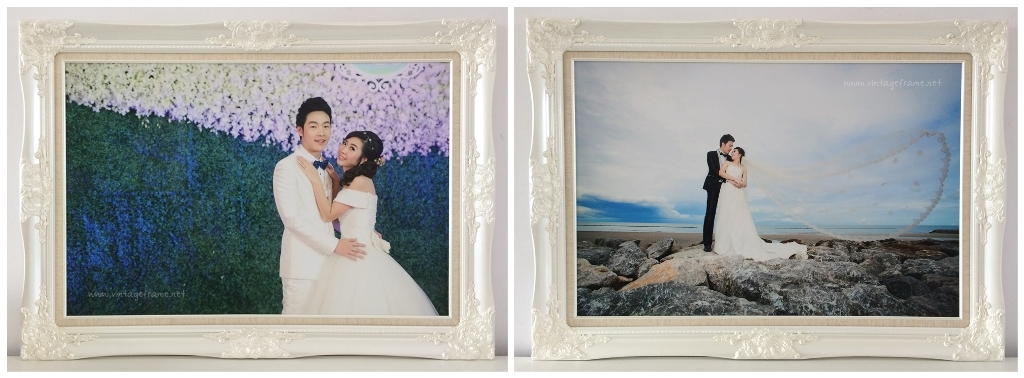 กรอบรูปแต่งงานสีมุก