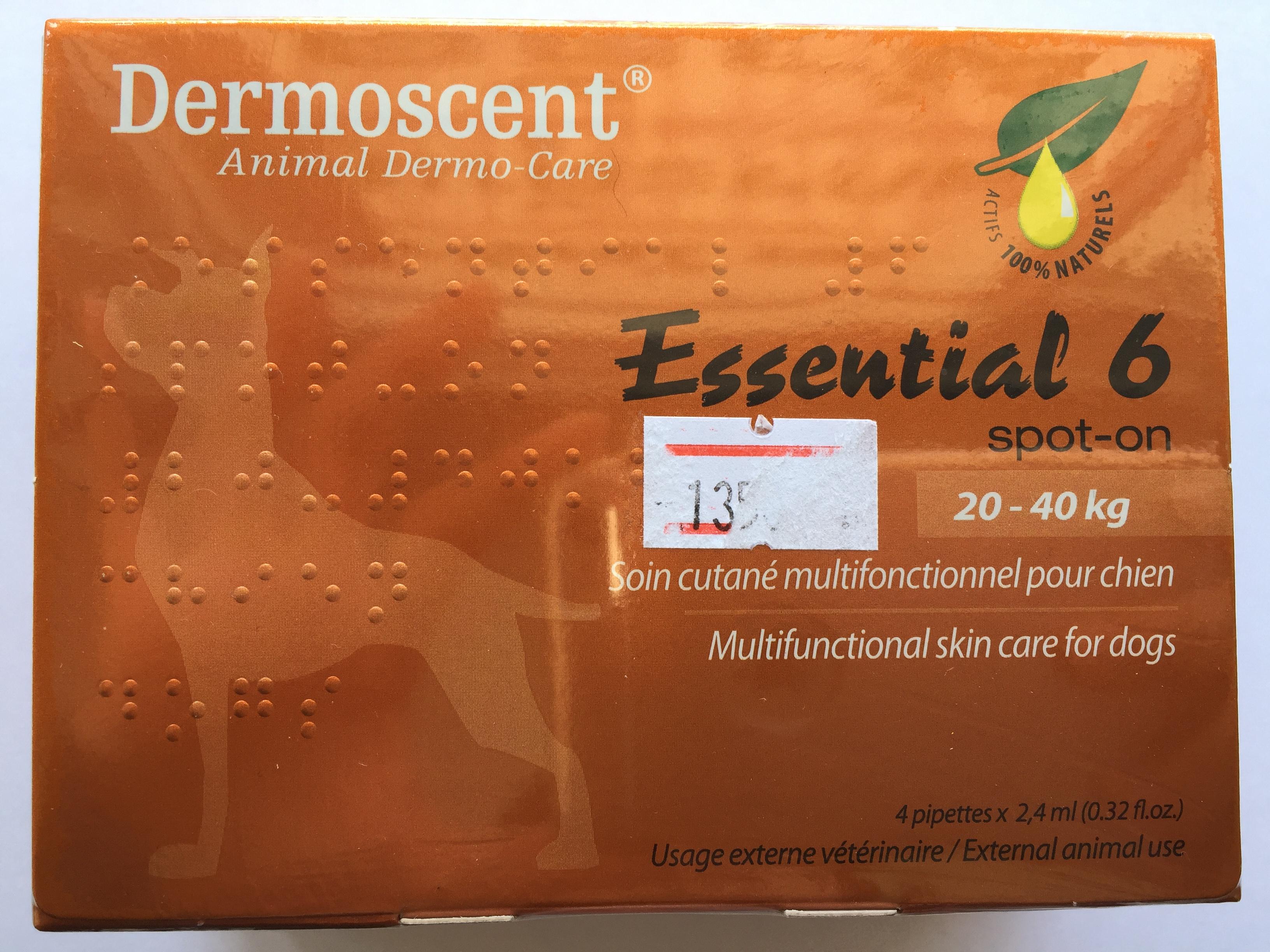 Dermoscent Essential 6 สำหรับสุนัข น้ำหนัก 20-40 kg.Exp.02/19