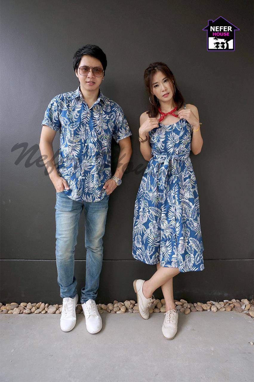เสื้อคู่รักฮาวาย ชุดเที่ยวทะเล