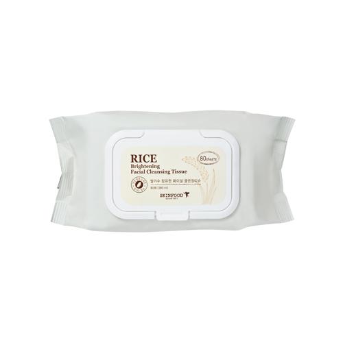 Skinfood RICE Brightening Facial Cleansing Tissue 80 แผ่น