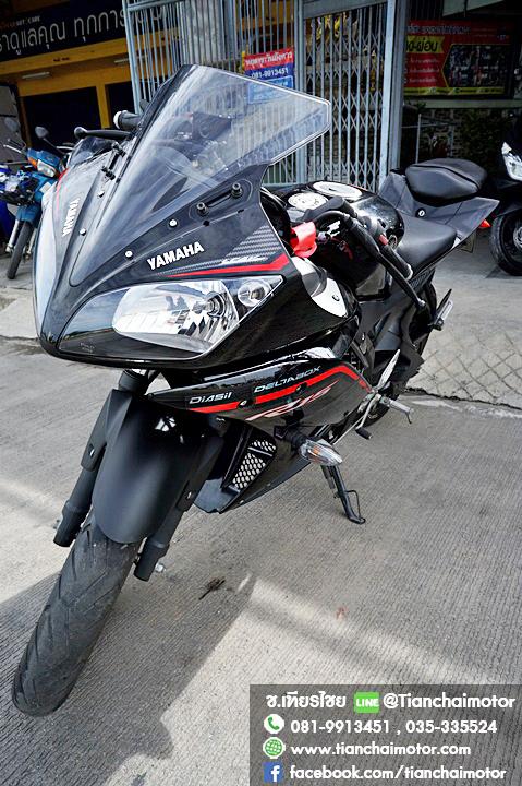 #ดาวน์13000 R15 ปี58 สีดำหล่อสุดๆ เครื่องดี สภาพเดิมๆ ขับขี่เยี่ยม ราคา 49,500