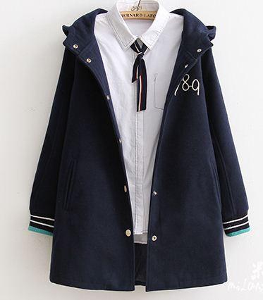 เสื้อกันหนาวสไตล์ญี่ปุ่น (มีสีน้ำเงิน-แดง-เทา)